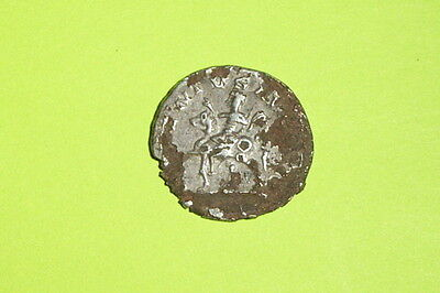 Ancient ROMAN SILVER FOUREE DENARIUS COIN of CARACALLA 196 AD-217 horse rider
