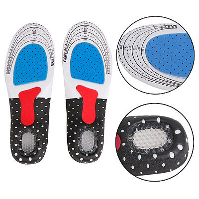 1 Pair Women Men Foot Silicone Gel Insoles Pads Orthotic Arch Support Shoe Pad