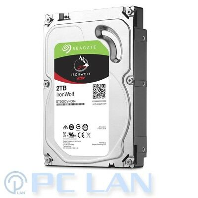 Seagate IronWolf NAS HDD 2TB 64MB SATA 6G ST2000VN004 3 Years