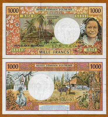 French Pacific Territories,  1000 Francs ND (1996) P-2, aUNC