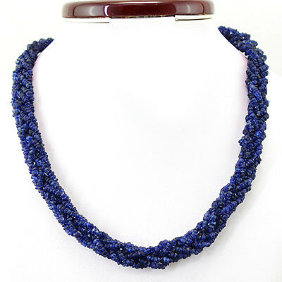 294.25 Cts Untreated Single Strand Blue Tanzanite Faceted Beads Necklace (Dg)