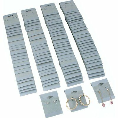 100 Gray Hanging Earring Cards 2 Inch Jewelry Display