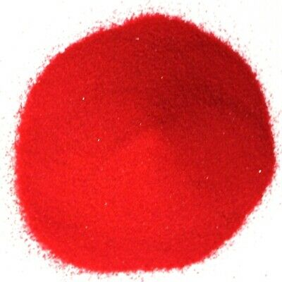 NEW 500g Coloured Wedding Sand Party Ceremony Decorations Crystalline Bright Red