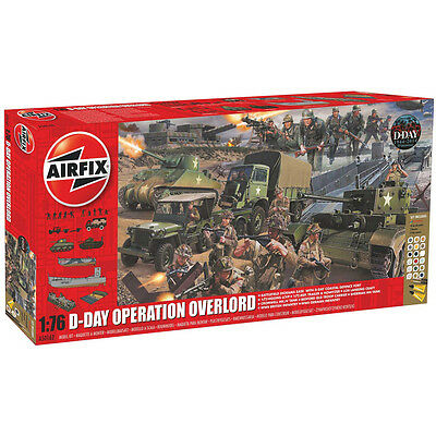 Airfix D-Day Operation Overlord Set (Scale 1:76) Model Kit A50162 NEW
