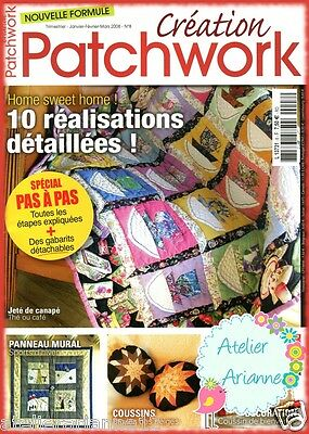 ♥ Magazine Quilt Couture ♥ Création Patchwork Home sweet home ! n.8 2008  A.123