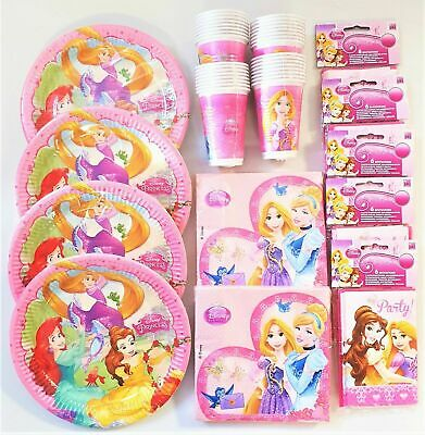 Disney Princess  Party Tableware - Cinderella, Snow White, Rapunzel and Friends