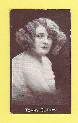 Actress  -  Hill  -  Rare  Actress-Chocolate  Card  -  Tommy  Claney   -  1917