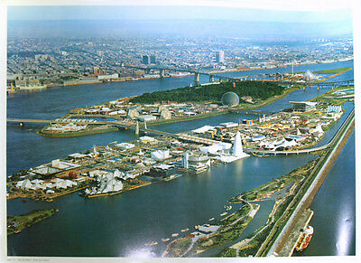 "Expo 67 Montreal - giant 18"" X 24"" colour poster - ship folded or rolled!"