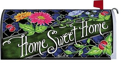 Home Sweet Home Ladybug Flower Magnetic Mailbox Cover