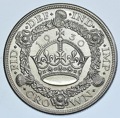 Rare 1930 Wreath Crown British Silver Coin From George V [Only 4847 Minted]