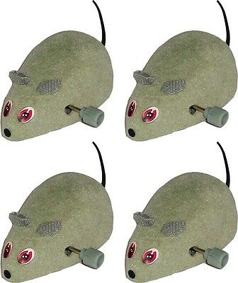 4 x Good Girl Wind Up Motor Mouse Cat Toy Moving mouse good quality Kitten