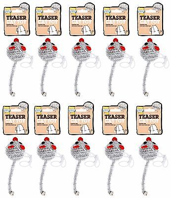 10 x good girl cat dangley kitten toy dangling elastic teaser string Fun Mouse