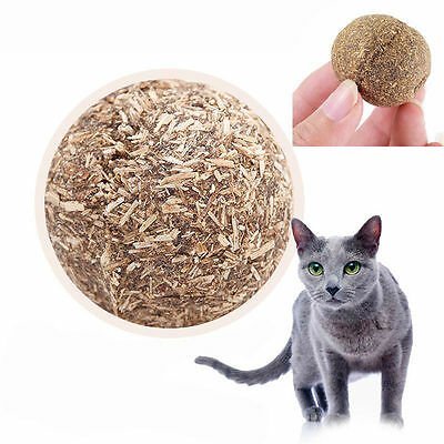 Natural Pet Kitten Cat Mint Ball Play Toys Ball Coated With Catnip Bell Toys