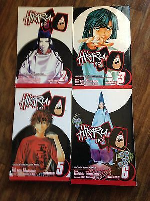 Hikaru No Go 2 3 5 6 Viz shonen Manga Book Lot English