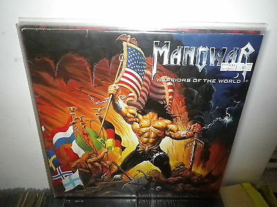 MANOWAR warriors of the world EX-/M- LP GER LIMITED PICTURE DISC (NO INSERT)