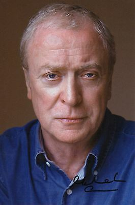 MICHAEL CAINE personally signed 9x7