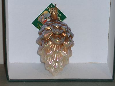 Woodland  pine cone Old World Christmas glass ornament
