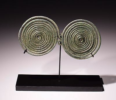 Large Ancient Bronze Age Spectacle Brooch - Circa 9Thc To 6Thc Bc
