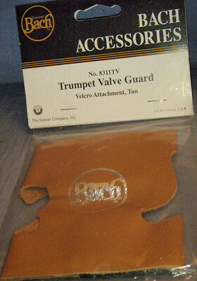 Bach Leather Valve Guard (Tan, with hook/loop closure) for Trumpet/cornet