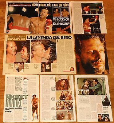 MICKEY ROURKE spanish clippings 1980s sexy photos magazine articles actor