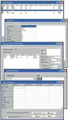 Point of Sale POS Invoice & Stock Store Inventory Tracking Database Software CD