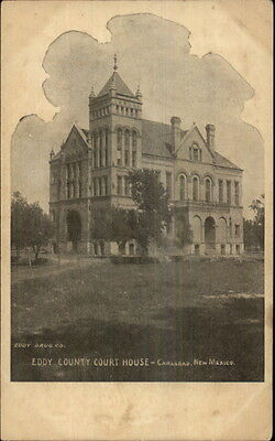 Carlsbad NM Court House c1905 Postcard