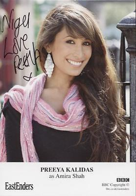 SIGNED EastEnders Preeya Kalidas as Amira Shah Official Cast Card Autographed