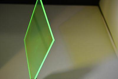 """POPDISPLAYS  COLOR SAMPLE OF COLOR #9093 FLUORESCENCE  GREEN 1/8"""" x 1.5."""" x 1.5"""""""