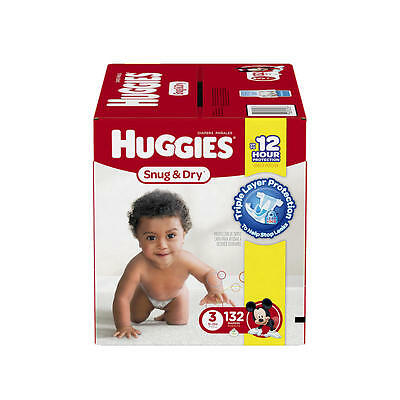 Huggies Snug and Dry Size 3 Baby Diapers - 132 Count
