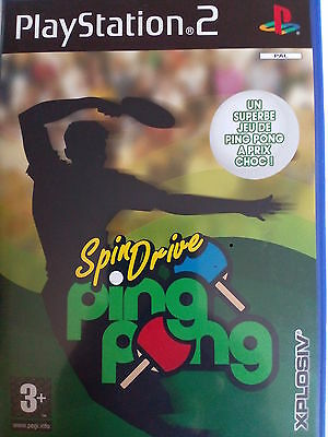 JEU PS2 SPINDrIVE PING PONG complet PLAYSTATION