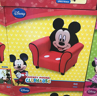 * Disney Junior Mickey Mouse Clubhouse Upholstered Chair Sofa Childs Kids Gift *