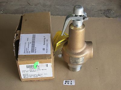 "+New In Box Spence 1-1/2"" Relief Valve 042Agga  Set: 145 Psi Cap: 1521  Bz/ss"