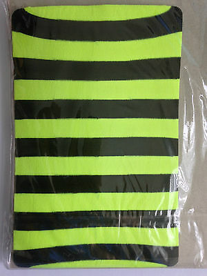 Childrens Halloween funky striped bright flo yellow/black tights. One size.