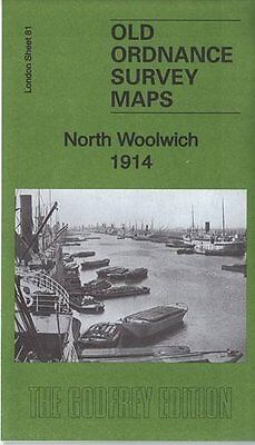 Old Ordnance Survey Map North Woolwich 1914