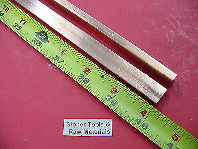 "2 Pieces 1/4""x 1/2"" C110 COPPER BAR 40"" long Solid Flat .25"" Bus Bar Stock H02"