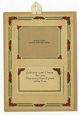 CALENDAR from KODAK Greeting 1929 - CHRISTMAS Greeting with Place to Put Photo