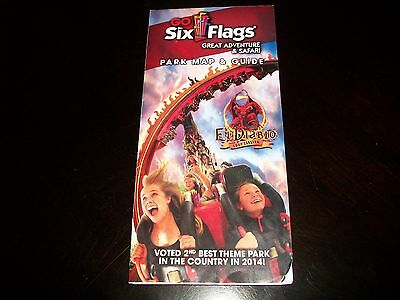 2015 Six Flags Great Adventure & Safari Park Map Jackson NJ