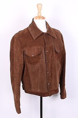 Vtg Schott Rancher Western Leather Coat Jacket Usa Mens Size 44