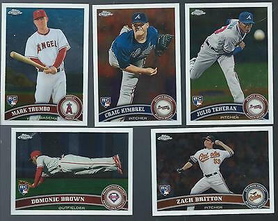 Complete Finish Your 2011 Topps Chrome Set 1-220 U PICK 20
