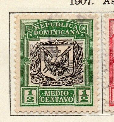 Dominican Republic 1907 Early Issue Fine Used 1/2c. 104084