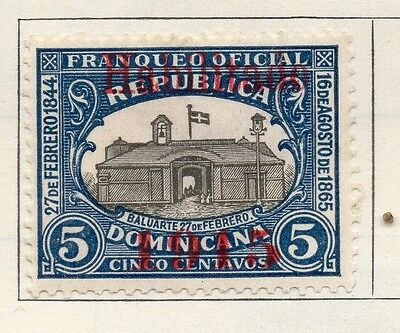 Dominican Republic 1915 Early Issue Fine Mint Hinged 5c. Optd 104104