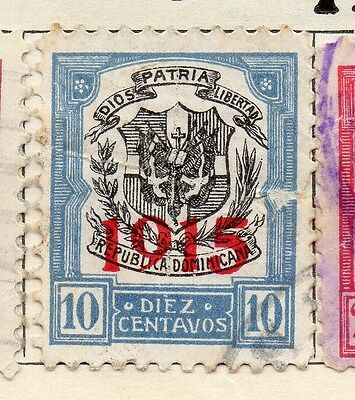 Dominican Republic 1915 Early Issue Fine Used 10c. Optd 104109