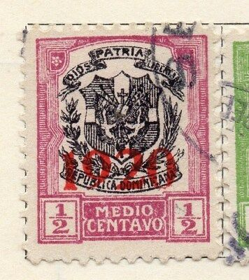 Dominican Republic 1920 Early Issue Fine Used 1/2c. Optd 104118