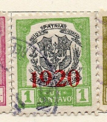 Dominican Republic 1920 Early Issue Fine Used 1c. Optd 104119