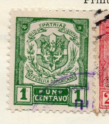 Dominican Republic 1922 Early Issue Fine Used 1c. 104128