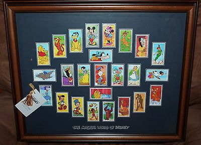 Rare The Magical World Of Disney Tobacco Cards Framed, with Tags