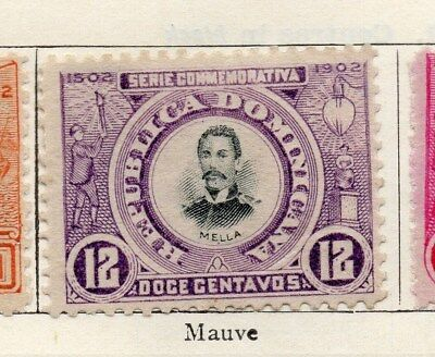 Dominican Republic 1902 Early Issue Fine Mint Hinged 12c. 104167