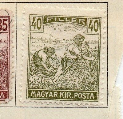 Hungary 1916 Early Issue Fine Mint Hinged 40f. 104299