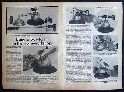 1940 BLOWTORCH Ad Vintage article Unique Spherical base