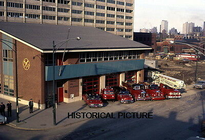 Chicago Fire Department Photo Cfd Vintage 1966 Rig  Engine Truck Snorkel